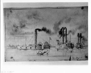 Steamboats at Cairo, Illinois